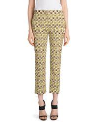 e6ed0daaec55a Prada - Women s Lana Wool Printed Ankle Pants - Green Brown - Size 48 (12