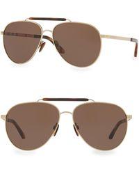 b7631fdfe10 Lyst - Burberry Aviator Sunglasses in Metallic for Men