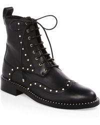 Jimmy Choo - Hanah Studded Oxford Boots - Lyst