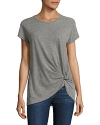 Stateside - Twisted Knot Slub Tee - Lyst