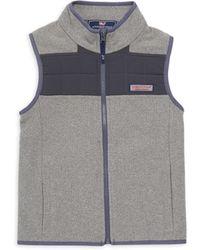 Vineyard Vines - Boy's Fleece Quilt Jumper Vest - Lyst
