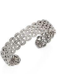 Adriana Orsini - Anise Crystal Cuff Bracelet - Lyst
