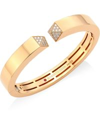 Roberto Coin - Diamond & 18k Rose Gold Bangle - Lyst