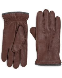 Saks Fifth Avenue - Deerskin Leather Gloves - Lyst