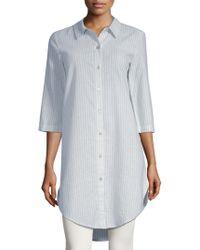 Eileen Fisher - Striped Shirt Dress - Lyst
