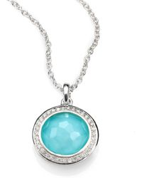 Ippolita - Turquoise Doublet, Diamond & Sterling Silver Pendant Necklace - Lyst