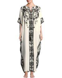 Natori - Peaceful Petals Silk Nightgown - Lyst