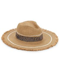 Hat Attack - Continental Fringed Striped Hat - Lyst