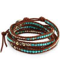Chan Luu - Turquoise Mix Wrap Bracelet - Lyst