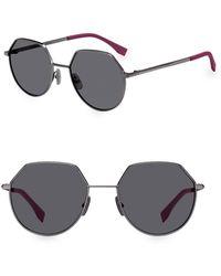 cdf7d265dc Fendi - Men s 54mm Hexagonal Sunglasses - Dark Ruthium Black - Lyst