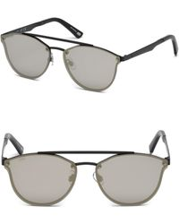 Web - 59mm Round Gold Mirror Sunglasses - Lyst