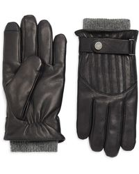 Polo Ralph Lauren - Quilted Wool-lined Leather Racing Gloves - Lyst
