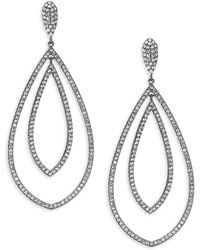 Adriana Orsini - Pave Crystal Double-tier Drop Earrings/goldtone - Lyst