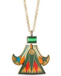 Silvia Furmanovich - Marquetry 18k Yellow Gold Pendant Necklace - Lyst