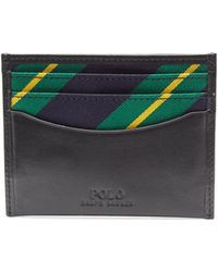 Polo Ralph Lauren - Slim Striped Leather Card Case - Lyst