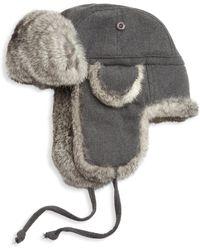 Saks Fifth Avenue | Collection Rabbit Fur Aviator Hat | Lyst