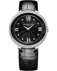 Baume & Mercier - Promesse 10166 Stainless Steel & Alligator Strap Watch - Lyst
