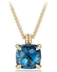 David Yurman - Chatelaine Pendant Necklace With Gemstone And Diamonds In 18k Gold - Lyst