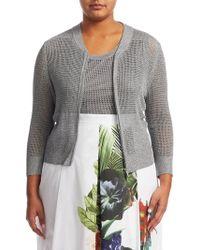 Marina Rinaldi - Mirra Knit Jacket - Lyst