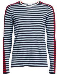 Akris Punto Tri-color Wool Knit Jumper - Blue