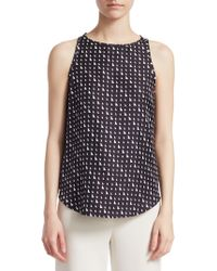 Theory - Silk Racer Back Top - Lyst