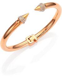 Vita Fede - Mini Titan Crystal Bracelet/rose Goldtone - Lyst