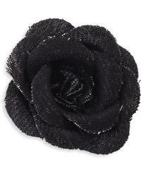 Hook + Albert - Solid Lapel Flower - Lyst