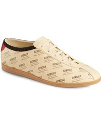 Gucci - Falacer Stamped Logo Leather Sneakers - Lyst