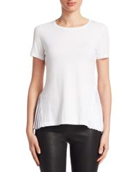 Saks Fifth Avenue - Pleated Back Pullover - Lyst