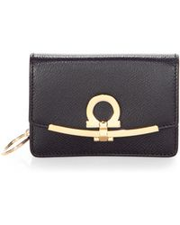 Ferragamo | Leather Flap Clutch | Lyst