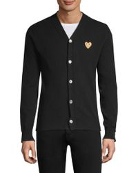 COMME DES GARÇONS PLAY - Embroidered Heart Cardigan - Lyst