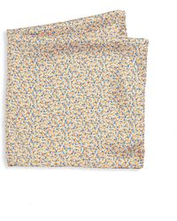Saks Fifth Avenue - Floral Printed Silk Pocket Square - Lyst