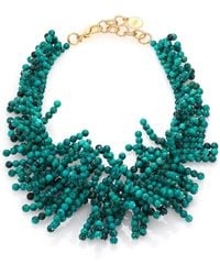 Nest - Beaded Fringe Turquoise Necklace - Lyst