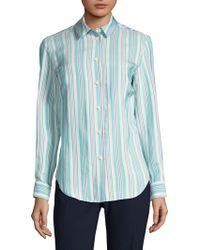Piazza Sempione - Stripe Button-front Shirt - Lyst