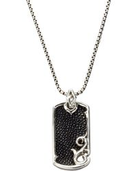Stephen Webster - Leather & Silver Dogtag Necklace - Lyst