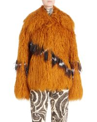 Dries Van Noten - Oversized Faux Fur Jacket - Lyst