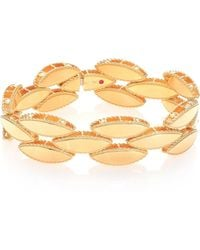 Roberto Coin - Retro 18k Yellow Gold Narrow Bangle Bracelet - Lyst