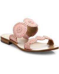 Jack Rogers - Lauren Bicolor Leather Sandals - Lyst