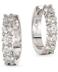 Hearts On Fire - Diamond & 18k White Gold Hoop Earrings - Lyst