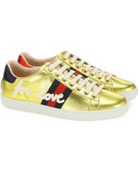 Gucci - New Ace Blind For Love Sneakers - Lyst