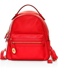 COACH - Campus Polished Pebbled Leather Backpack - Lyst
