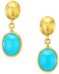 Gurhan - Amulet Hue 24k Gold Turquoise Drop Earrings - Lyst