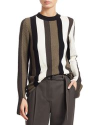 Akris Punto - Striped Wool Pullover - Lyst