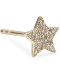 EF Collection - Diamond Star Stud Single Earring - Lyst
