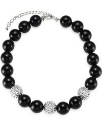 Kenneth Jay Lane - Crystal Beads Necklace - Lyst
