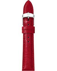 Michele Watches - 16mm Vibrant Lizard Strap - Lyst