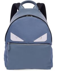 Fendi - Monster Leather & Tech-twill Backpack - Lyst