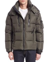 Sam. - Quilted Military Goose Down Jacket - Lyst