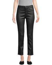 AG Jeans - Isabelle Leatherette High-rise Straight Crop Jeans - Lyst