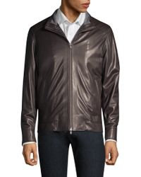 Peter Millar - Men's Classic Leather Bomber Jacket - Lyst